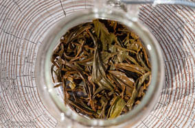 Black loose leaf tea - wet leaf